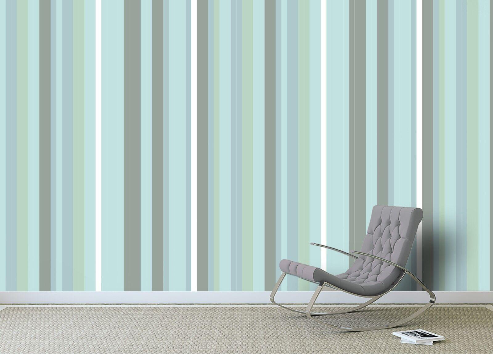 3D bluee Stripe 745 Wall Paper Murals Wall Print Wall Wallpaper Mural AU Summer