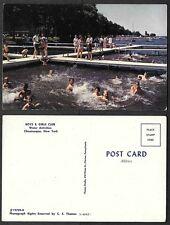 Old Postcard - Chautauqua, New York - Boys and Girls Club - Swimming Activities