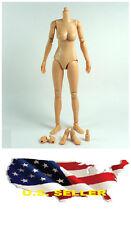 ❶❶1/6 Female Nude Figure Body N004 medium Breast Caucasian Skin Tone US seller❶❶