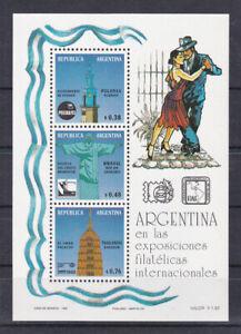 Argentina-1993-souvenir-sheet-s-s-set-MNH-tango