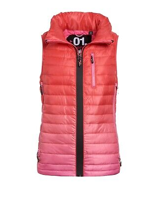New Womens Superdry Power Fade Vest Bubblegum Pink
