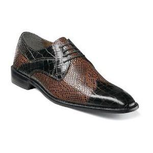 Stacy Adams Rivello Leather Sole Men Brown Multi Cap Toe Lace up Shoes 25048-249