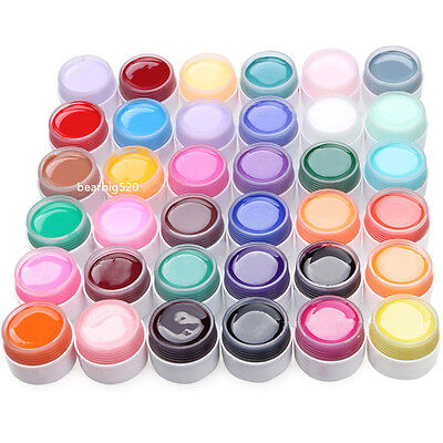 36 Pot Pure Colors Decor UV Gel Nail Art Lamp Acrylic Tips Decoration Manicure