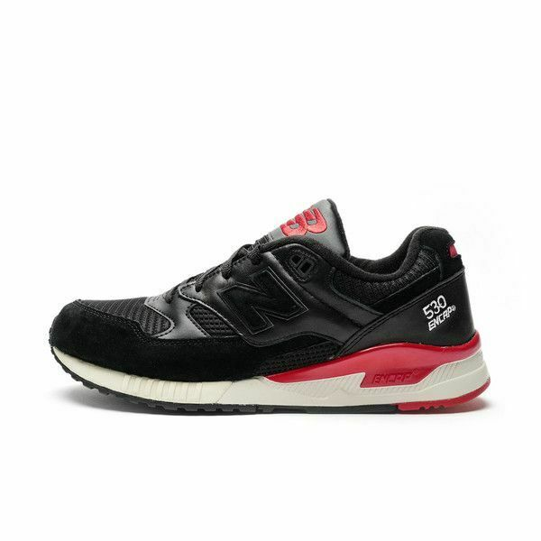 SALE MENS NEW BALANCE 530 RUNNING BLACK RED BM530LC BRAND NEW IN BOX SHOES