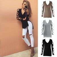 Women Shirt Summer Long Sleeve Shirt Casual Blouse Loose Cotton Tops T-shirt Hot