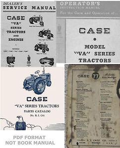 4-Manuals-Case-VA-VAC-VAO-VAE-VAH-Tractors-Service-Operator-039-s-Parts-Catalog-CD