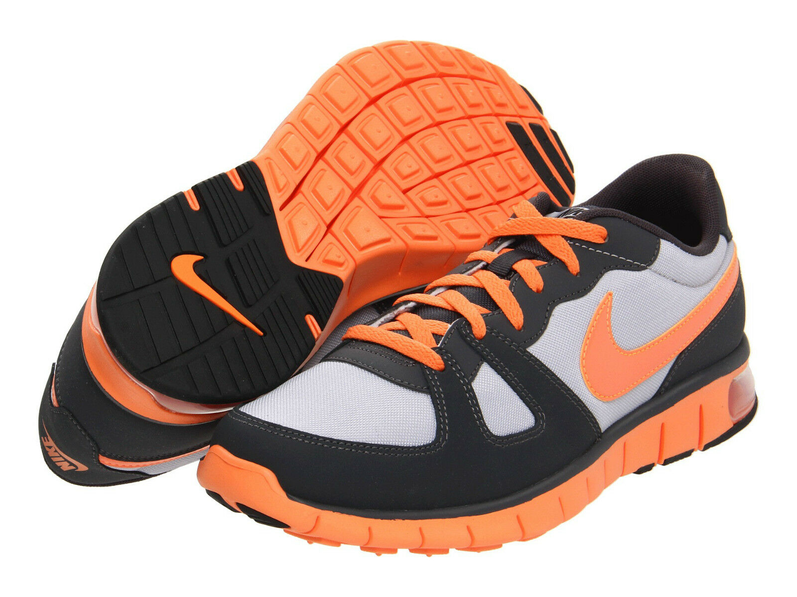 New Men's Nike Air Thera -Wolf Grey Anthracite Total orange - Size 10