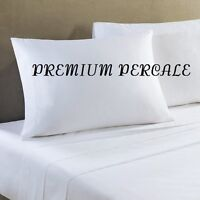 6 White Queen 90x110 Percale Flat Hotel Bed Sheets Premium Resort Spa on sale
