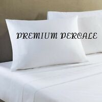 4 White Queen 90x110 Percale Flat Hotel Bed Sheets Premium Resort Spa on sale