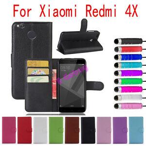 Pour-Xiaomi-Redmi-4X-Cuir-Support-Portefeuille-Carte-Fente-Etui-a-Clapet