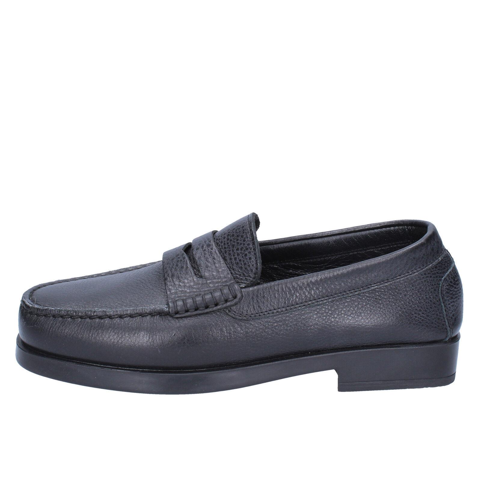 scarpe 40 uomo K852 & SON 40 scarpe mocassini nero pelle BX610-40 b51e34