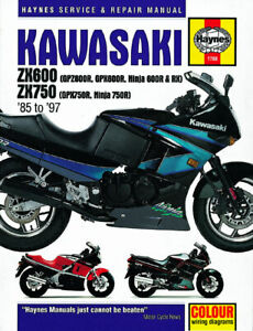 Details about NEW HAYNES MANUAL KAWASAKI GPX 750 R F1 1987 on