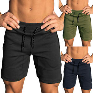 New-Sport-Men-Gym-Shorts-Bodybuilding-Running-Training-Fitness-Workout-Cotton