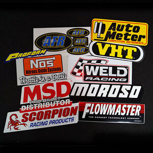 PERFORMANCE-STICKER-DECAL-10-PACK-PEEL-N-STICK-STICKERS-MSD-MOROSO-NOS-ST6