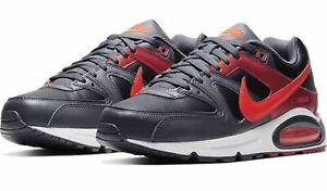 NIKE-Da-Uomo-per-il-tempo-libero-Scarpe-Scarpe-Sportive-Retro-sneaker-Air-Max-Command-Nero-Rosso