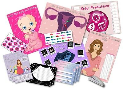 Baby Shower Party Games  -  6 GAMES  -  PINK/GIRL  -  up to 20 players  FREE P&P