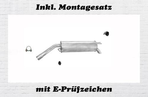 1.6 1.9 JTD Endschalldämpfer Auspuff Endtopf Montagesatz Fiat Bravo II 1.4 16V