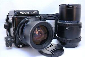 N-Nuovo-di-zecca-Mamiya-RZ67-Pro-II-con-Sekor-50mm-250mm-Obiettivo-2-Film-Retro-dal-Giappone