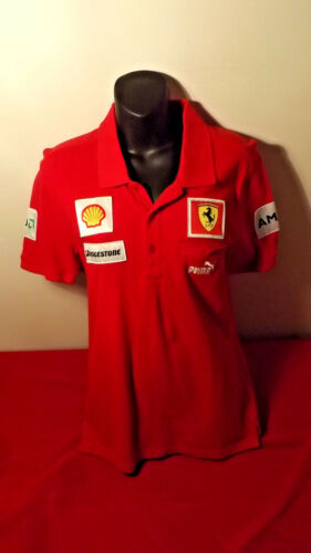 FERRARI PUMA OFFICIAL POLO SHIRT IN GREAT CONDITION SIZE S