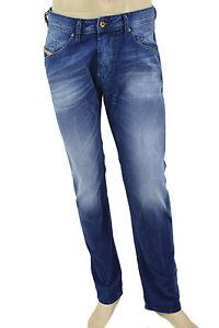 $228 Diesel Bleu Jeans Belther homme Regular slim 0838 C denim nouvelle collection