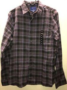 d94dd14f2 Apt 9 Mens Slim-Fit Plaid Button Down Shirt- Multi-Color- Size M ...