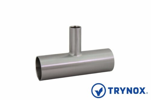 Biopharm Sanitary Stainless Steel 316L 1 1/2'' x 1/2'' BPE Reducer Tee Trynox
