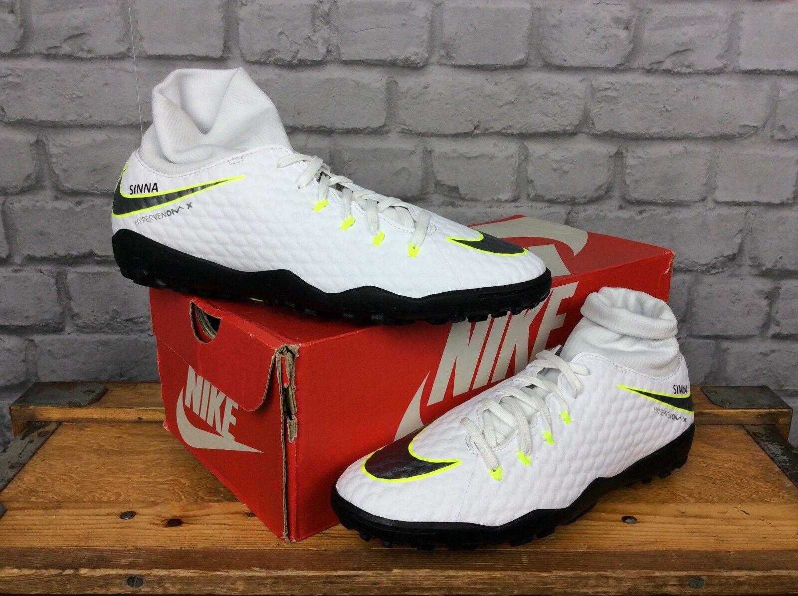big sale 1b054 d3fa5 Nike Nike Nike Da Uomo EU 42.5 Bianco HYPERVENOM PHANTOM 3 Dynamic Fit FG  Scarpe da calcio 1bb553