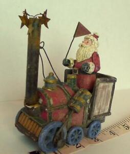 Santa-Claus-Choo-Choo-Retro-Decoration-Iron-Wheels-Roll