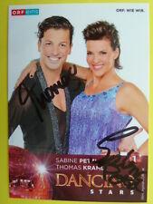 Dancing Star 2016 - Sabine Petzl & Thomas Kraml (ORF eins Autogrammkarte)