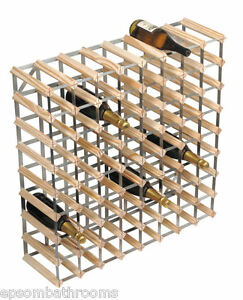 RTA 25 Bottle Traditional Wine Rack-Kit-Natural Pine FSC
