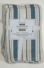 Set Of 4 Williams Sonoma Classic Striped Dishcloths Blue//Gray
