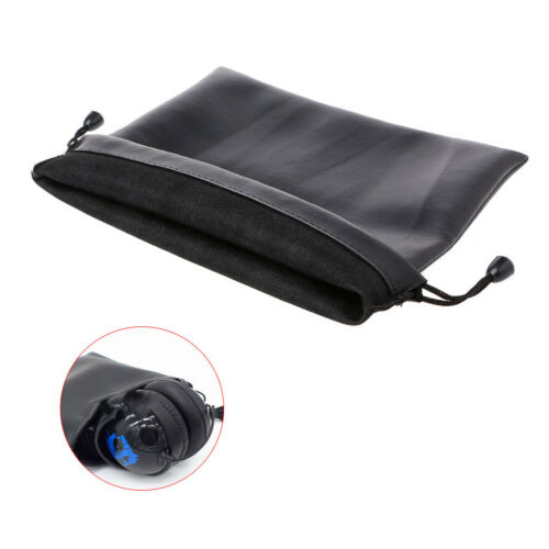 Leather Big Storage Bag Protective Case 20×22cm For Headband Earphone Headphone
