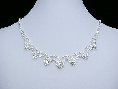 Bridal Wedding Prom Rhinestone Crystal Jewelry Necklace Earrings Set N174