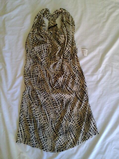 Nuevo PVP 230  Nicholas K Seda  Estampado De Cocodrilo Capucha Cuello Vestido Túnica L  tienda en linea