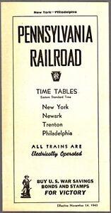 24497-NOVEMBER-1943-PENNSYLVANIA-RAILROAD-PASSENGER-TIMETABLE