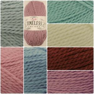 King-Cole-TIMELESS-Chunky-Acrylic-Alpaca-Soft-Knitting-Crochet-Yarn-Wool-100g