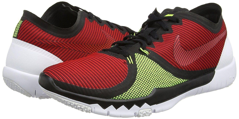 Men's Nike Free Trainer 3.0 V4 Training Shoes, 749361 066 Size 13 Black/Team Red