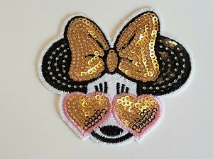 Sequin minnie mouse kids children hotfix sew on applique motif