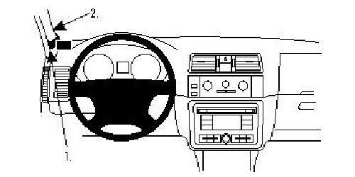 Brodit ProClip 804482 Montagekonsole für Skoda Fabia Baujahr 2008-2014