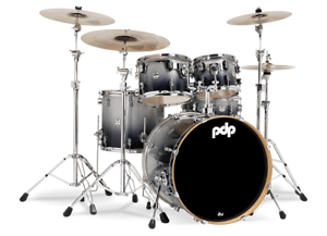 PDP-by-DW-Shellset-Concept-Maple-CM5-Silver-to-Black-Sparkle-Schlagzeug-Drumset