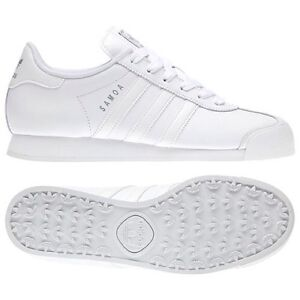 hot sale online cee12 a956d Image is loading adidas-originals-samoa-g20682-women-shoes-white-silver-