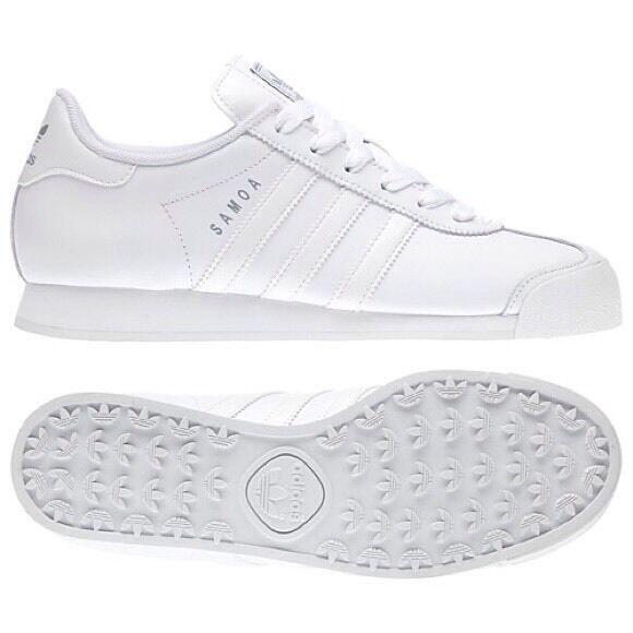 ce8b59fc adidas originals samoa g20682 women shoes white/silver 100% authentic