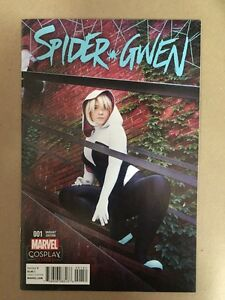 SPIDER-GWEN-1-COSPLAY-PHOTO-VARIANT-COVER-FIRST-PRINT-MARVEL-2015-SPIDERMAN