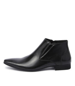 New-Uncut-Pattinson-Black-Mens-Shoes-Dress-Boots-Ankle