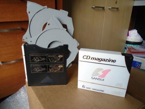 Sansui 6 discos múltiples Cambiador de discos compactos Revista Para Uso Hogar y coche