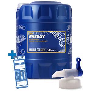 20L-Mannol-Energy-5W-30-Motorenoel-API-SL-5W30-OL-Motoroel-Hahn-fuer-MB-VW-FORD