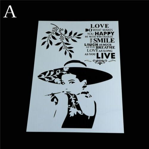 Belleza capas plantillas para pintar álbum de recortes Estampar FG Paredes