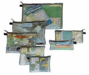 ef953bb10e1a Travelon Set of 7 Packing Envelopes 5 Colors Travel Organizer Black