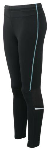 zipped pocket /& tie waist Womens Large 14//16 yoga fitness leggings black//blue