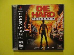 Die Hard Trilogy 2 Viva Las Vegas Black Label Sony Playstation Game Complete